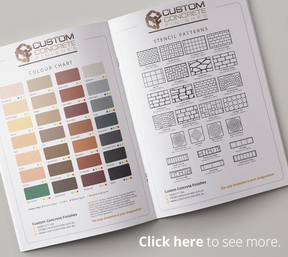 Custom Concrete Finishes Colour Chart