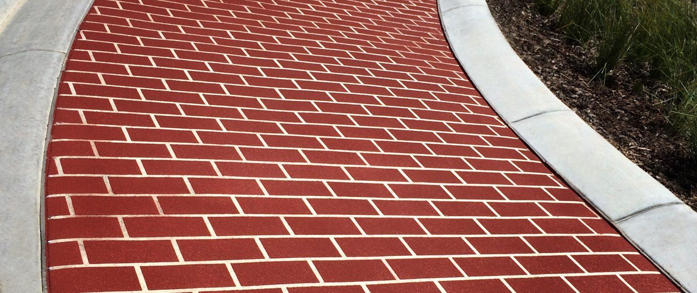 Custom Concrete Finishes Spray On Paving Footpaths Albury Wodonga
